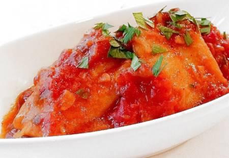 Baccalà fritto al Pomodoro