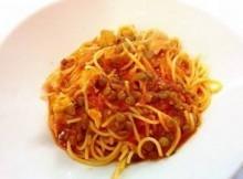 Pasta spaghetti con Tonno e Piselli
