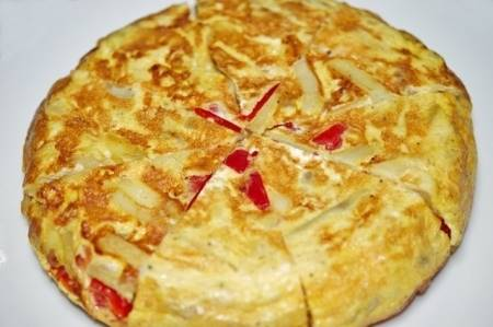 Frittata al forno con Patate e Peperoni