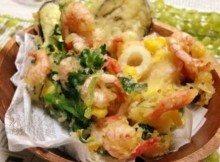 Fritto Misto di gamberi, calamari e verdure